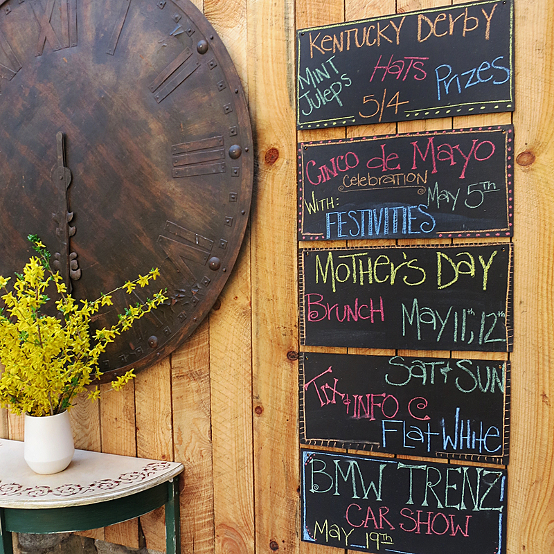 Chalk Board Events