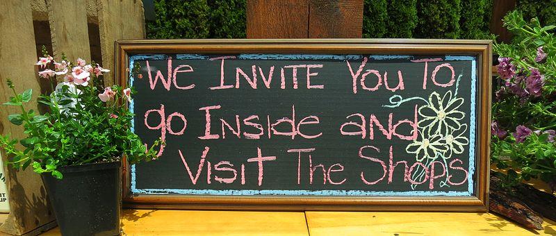 Visit Inside Sign
